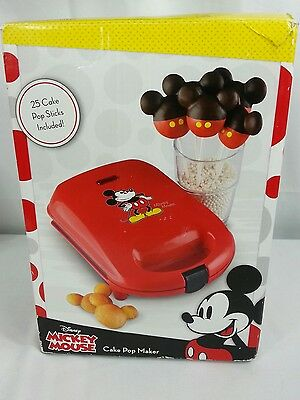 Disney Mickey Mouse Cake Pop Maker & Extras New In Box