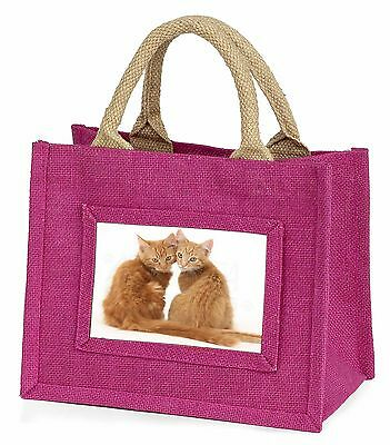 Two Ginger Kittens Little Girls Small Pink Shopping Bag Christmas Gif, AC-203BMP
