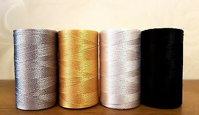 Silk Spool all purpose embroidery thread assorted mix basic solid colors