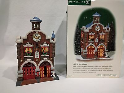 DEPT 56 Christmas in the City Building 42nd St. Fire Company #58914 MIB