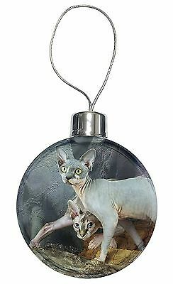 Sphynx Cat Christmas Tree Bauble Decoration Gift, AC-24CB