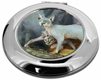 Sphynx Cat Make-Up Round Compact Mirror Christmas Gift, AC-24CMR