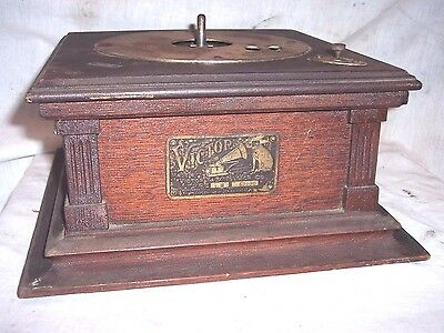 Victor E Phonograph Motor And Cabinet