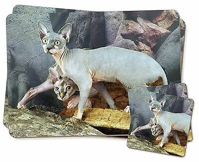 Sphynx Cat Twin 2x Placemats+2x Coasters Set in Gift Box, AC-24PC