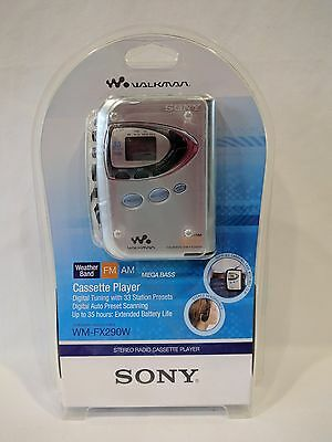 Sony WM-FX290W Walkman Digital Tuning FM/AM Stereo Cassette Player NIP
