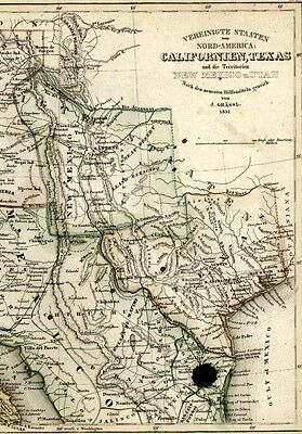 pre-state Texas California Gold Rush Region Mormons 1849 Meyer rare antique map