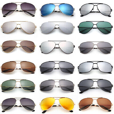 Fashion Women Mens Aviator Polarized Sunglasses Driving Mirrored Eyewear Case UV