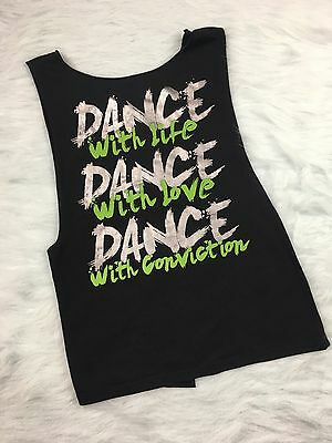Urban Groove Womens SA Small Adult Dance Shirt Top Tank Open Back Tie Back  #AB