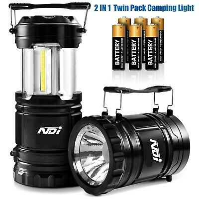 2 PCS Portable Outdoor 30 LED Camping Lantern with 6 AA Batteries Outdoor Lamp