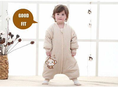 Baby Toddler Kids Sleepsuit Sleeping Bag Pajamas w/ Legs Spring Autumn