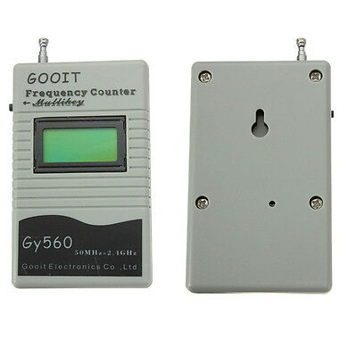 50Mhz-2.4Ghz 9V Digital Frequency Counter Meter for Two Way Radio GY560 New