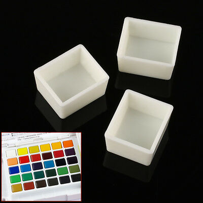 20pcs Artist Empty Half Pans for Watercolour Painting Palette Crafts 19x16x10mm