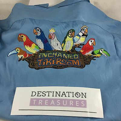 Disney IMAGINEER Enchanted Tiki Room Hawaiian Shirt Embroidered 2XL See Measmnts