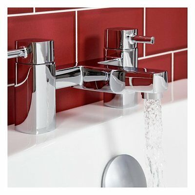 Modern Bathroom Square Lever Brass Chrome Bath Mixer Tap