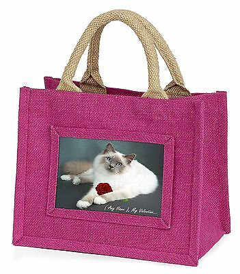Personalised (Any Name) Little Girls Small Pink Shopping Bag Christm, VAC-85RBMP