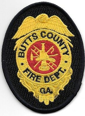 """Hawaii 3/"""" round ballcap size fire patch Hawaii County  /""""Fire // Air-Rescue/"""""""