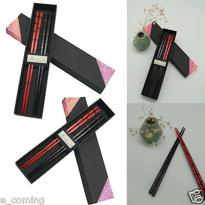 2 Pairs New Japanese High Class Lacquer Couple Of Chopsticks Traditional Crafted
