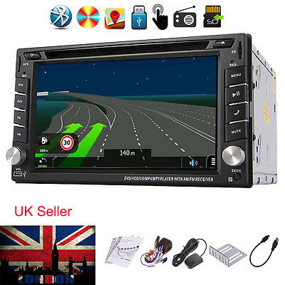 Double 2 Din Car dvd Player Stereo GPS SAT Bluetooth InDash MP3 Player RDS Radio