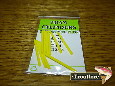 Wapsi Hopper Yellow Foam Cylinders Extra Small - New Fly Tying Materials