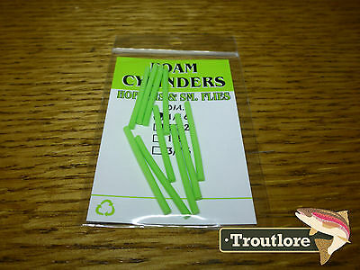 Wapsi Chartreuse Foam Cylinders Extra Small - New Fly Tying Materials