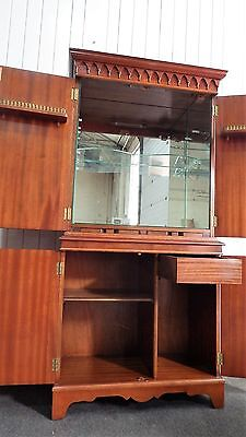 Antique Regency style flame mahogany cocktail drinks cabinet