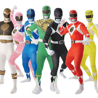Rubies Adults Mighty Morphin Power Rangers Fancy Dress 2nd Skin Costume Outfit