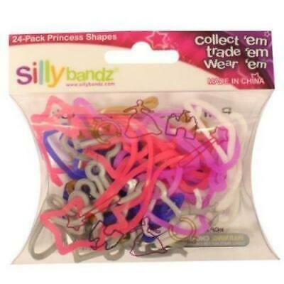 Official Sillybandz Rubber Silly Bandz Princess x 24 - New