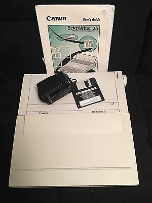 Canon Starwriter 25 Personal Publishing System Word Processor Typewriter