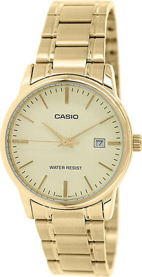 Casio Men's Analog Quartz Gold Tone Stainless Steel Watch MTPV002G-9A