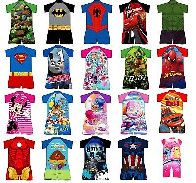 Childrens One Piece Swimsuit Swimming Costume Surf Suit 1.5-5yrs NEW FREE P&P