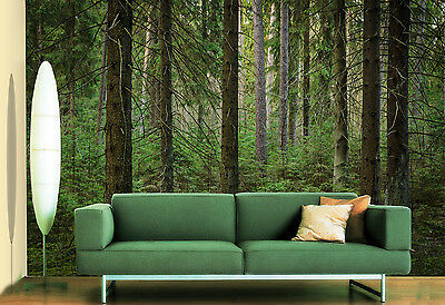 3D Green trees 3423 Wall Paper Wall Print Decal Wall Deco Indoor Wall Murals