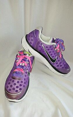 Nike Lunar Swift 2 Purple/black  Athletic Fitness Running Shoes Women Size 8.5M