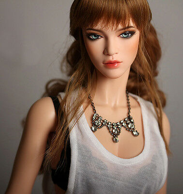 Ball Jointed Doll 1/3 Fashion Girl Aaliyah With Eyes Free Face Up---PEACH SKIN
