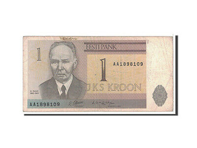 [#118772] Estonia, 1 Kroon, 1992, KM:69a, VG(8-10)