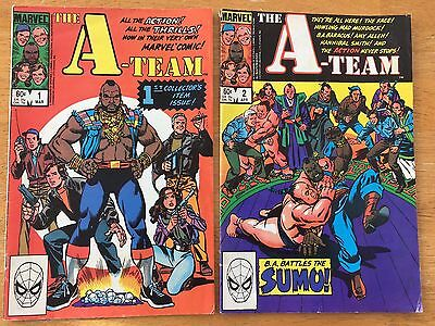 Set of 2 A-Team Comic Books Marvel 1-2 1st Issue 1984