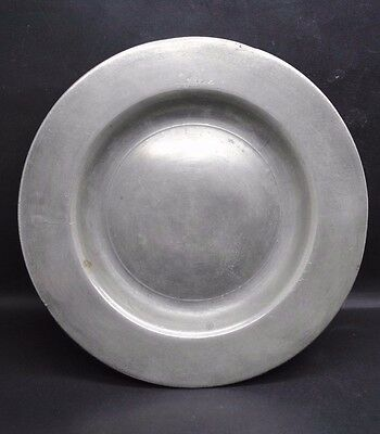 Jacobean Period Post Medieval English Pewter Plate 17Th Century