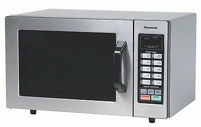 Panasonic NE-1054F Stainless 1000W 0.8 Cu. Ft. Commercial Microwave Oven with 10