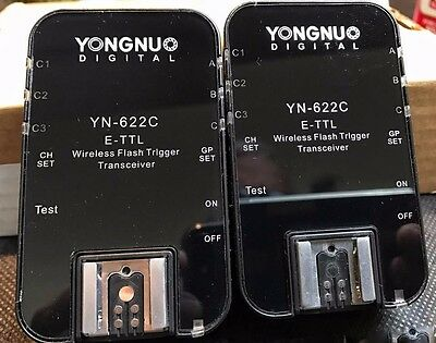 Yongnuo YN-622C Wireless TTL Flash Triggers for Canon 600EX RT 580EXII 430EXII
