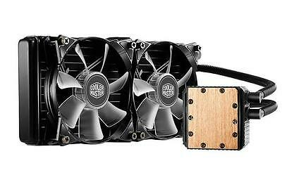 Coolermaster Seidon 240P Blue LED Multi-Socket CPU Cooler 2x Blue Jetflo LED