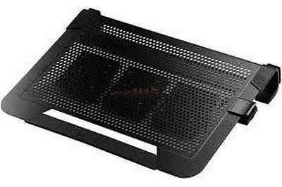 Coolermaster NotePal U3 PLUS Black Notebook Cooler Stand, 3x movable Fan.
