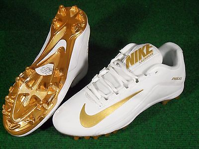 New Womens Nike Speedlax 5 TD LAX Lacrosse Cleats 9.5 White Gold 807158-170