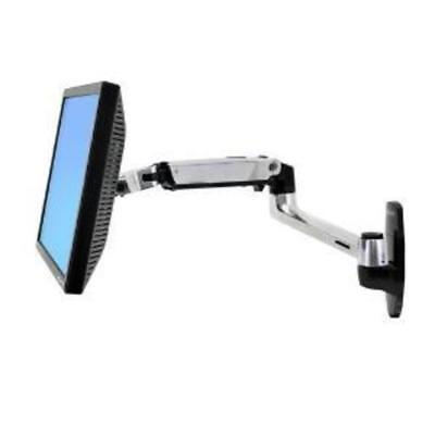 Ergotron Lx Wall Mount Lcd Display Arm Polished Aluminium Max Size 24In Max Weig