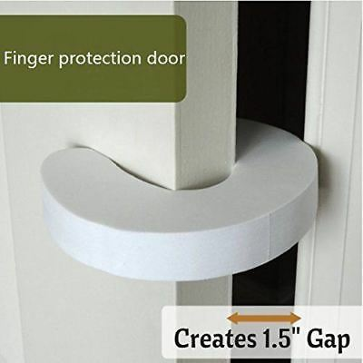 2 Foam WHITE DOOR GUARD Finger Protector Jammer Stopper Baby Child Kids Safety