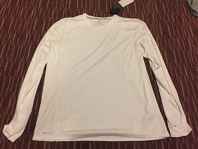 Nike Men's Long Sleeved Dri-Fit Miler, 683570-100 New Size XL