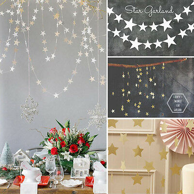 4M Paper Stars Wedding Birthday Party Baby Kids Room Hanging Decoration Garlands