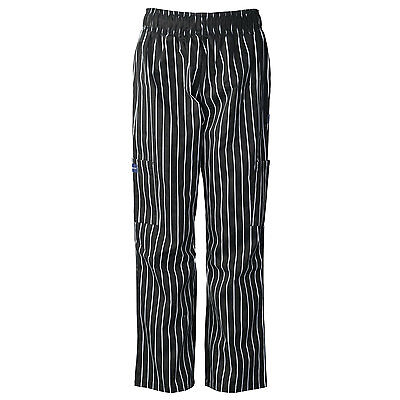 ABSOLUTE Baggy Chef Pants with Cargo Pockets, Elastic Waist CC220AB
