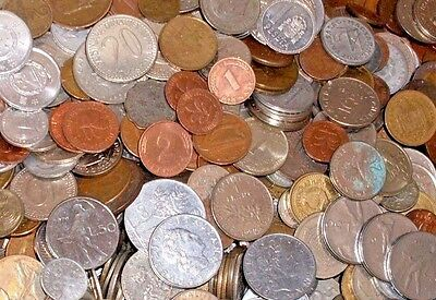 GRAB BAG OF 30 Different Foreign Coins & 12 Banknotes! Great