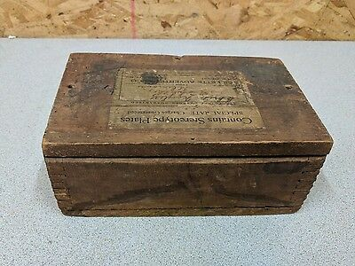Vintage Gillette Advertising Co. Stereotype Plate Wood Box,Finger Jointed