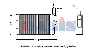 Heat Exchanger Interior Heating Heating Cooler Heater Opel Commodore Rekord D