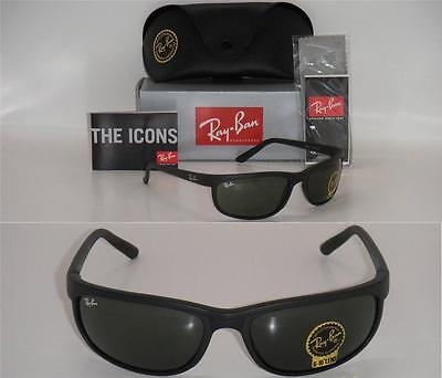 RAY BAN 2027 RB2027 W1847 62mm Predator 2 matte black with Green G-15XLT lenses